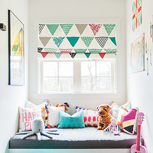 (KARUILU home Quick Fix Washable Roman Window Shades Flat Fold, Custom any width from 14