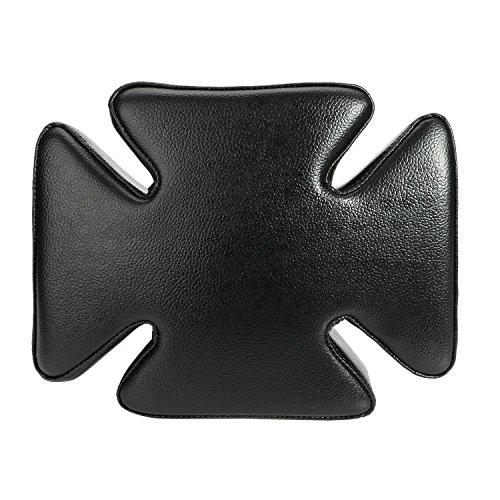 Lanlan motocicleta delantero solo cojín de asiento piel Pillion almohadilla Retro Diseño de Cruz primavera cojín de...