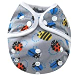 Kawaii Baby One Size Happy Leak-free Snap Cloth Diaper Cover for Prefolds Bees