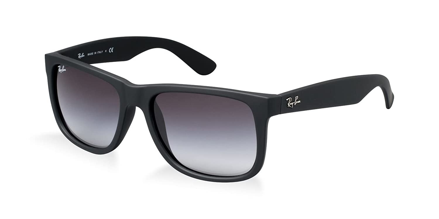 a85a19a42c Amazon.com  Ray Ban RB4165F 622 8G 55mm Rubber Black Justin Sunglasses  Bundle - 2 Items  Clothing