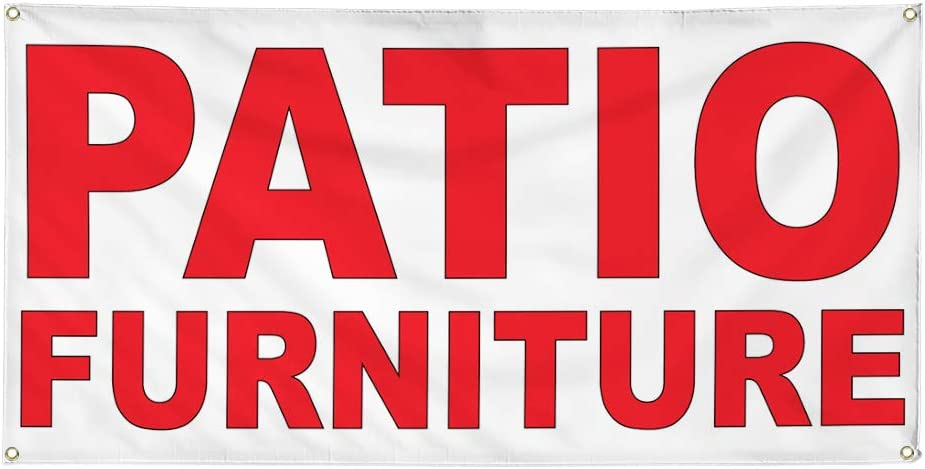 Vinyl Banner Multiple Sizes Patio Furniture Red Retail Outdoor Weatherproof Industrial Yard Signs 8 Grommets 48x96Inches