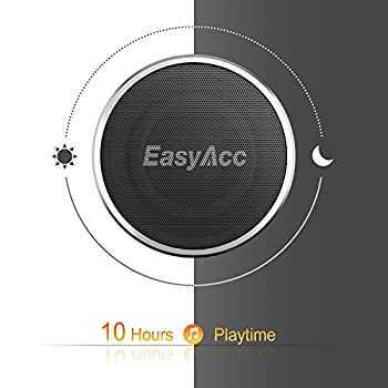 Easyacc Mini 2 Portable Bluetooth 4.1 Speaker With 5w Driver, Enhanced Bass, 10-hour Playtime, Fm Radio & More - Silver 2