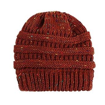 ZYMZ Beanie Sombreros de Invierno para Las Mujeres Crochet Knit ...