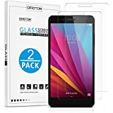 "[2-Pack] Honor 5X Glass Screen Protector, OMOTON Tempered Glass Screen Protector for Huawei Honor 5X 5.5"" [9H Hardness] [Crystal Clear] [Scratch Resist] [Bubble Free Install], Lifetime Warranty"