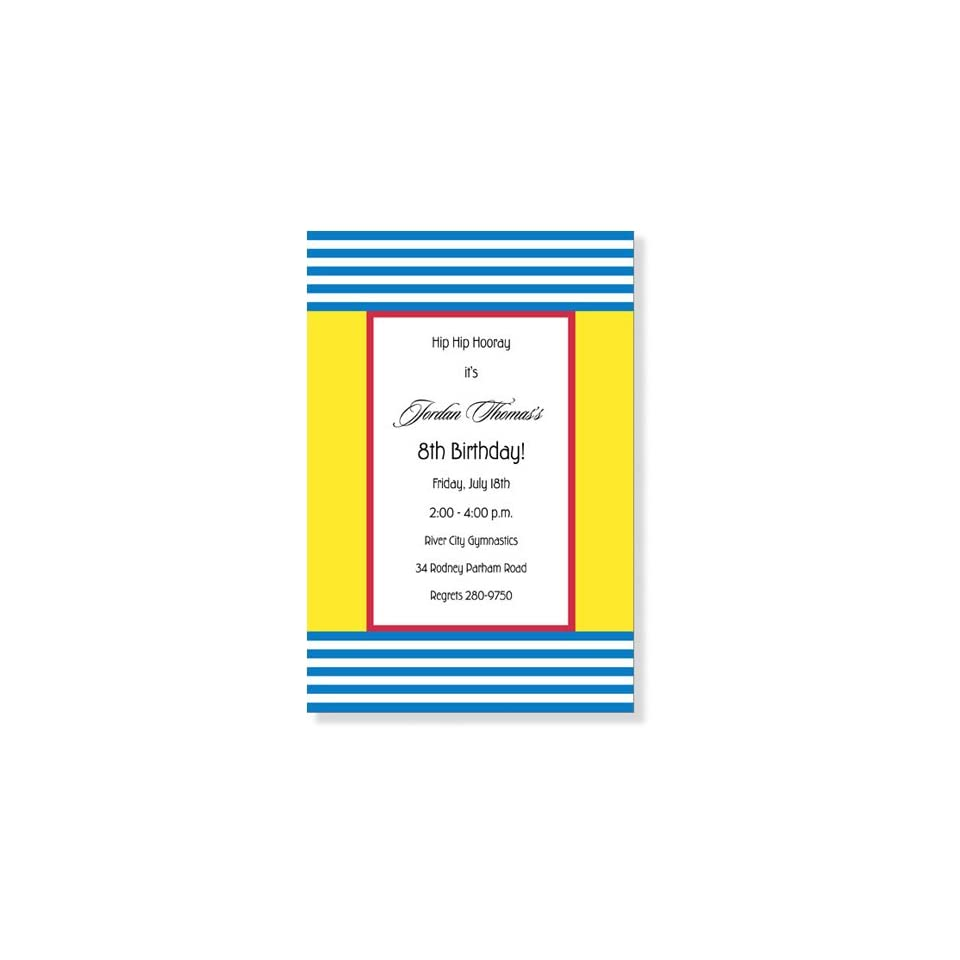 Childrens Birthday Party Invitations   Primary Focus Party Invitation