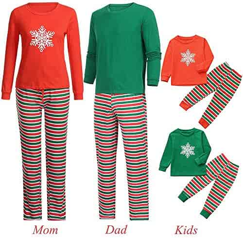 ae679aeb7b Family Christmas Pajamas Set Xmas Pajamas Sets Snowflake Sleepwear Sets  Adults Boys Girls Kids Pajama PJ
