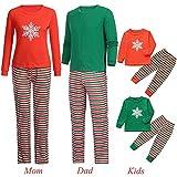 Gufenban Chrismas Family Pajamas, Classic Matching Family Pajamas - Matching Pajamas(Women-Red,XL)