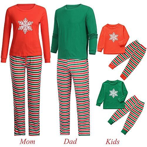 Family Christmas Pajamas Set Xmas Pajamas Sets Snowflake Sleepwear Sets Adults Boys Girls Kids Pajama PJ Set -