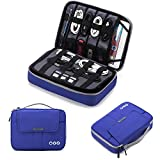 BAGSMART Universal Travel Cable Organizer Case Electronics Accessories Carry Bag for 9.7 inch iPad, Kindle, Power Adapter, Mac Book Charger, Blue