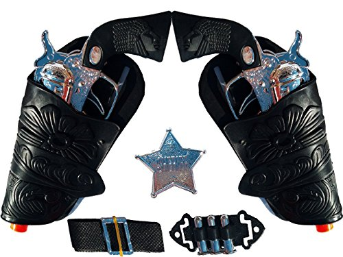 Cowboy Pistol (Top Selling Toy Cowboy Gun & Holster Set with Sheriff Badge, Belt and Spur)