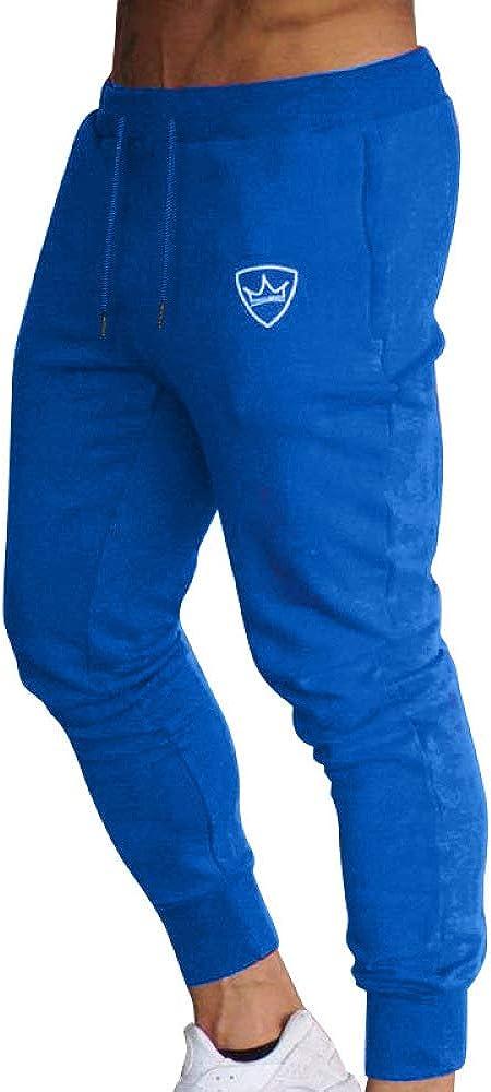 Pantalones Deportivos Deportivos para Hombre Pantalones de chándal Ligeros con Dobladillo Abierto Cintura elástica Pantalones Deportivos de Color sólido