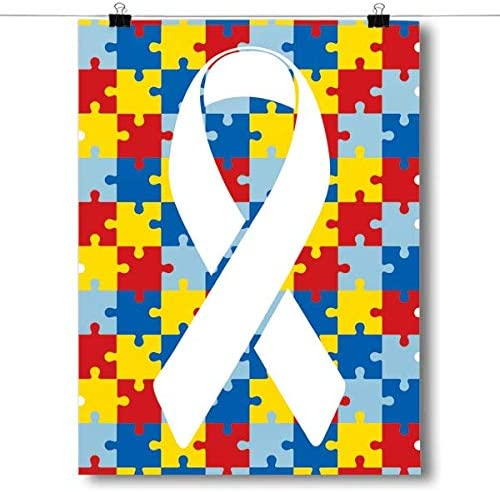 1-Puzzle Pieces Autism Awareness Print Queen Size Pillowcase New /& Handmade!