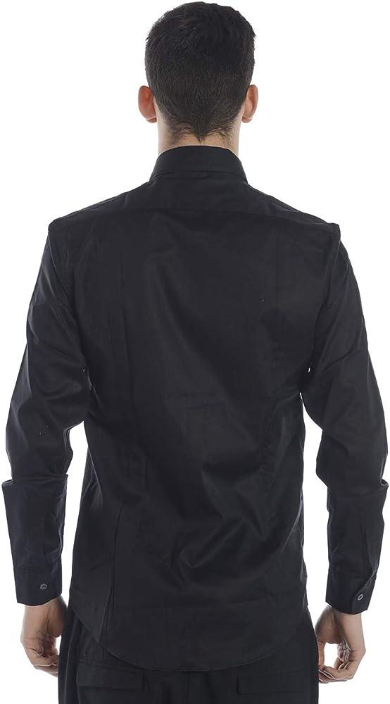 DANIELE ALESSANDRINI - Camisa Hombre C1512B7513800 C1512B7513800 Camisa BÁSICA Negra SIN Pinzas 41: Amazon.es: Ropa y accesorios