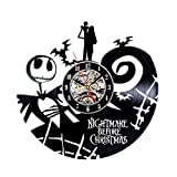 Nightmare Before Christmas Fan Collection Vinyl Wall Clock For Sale