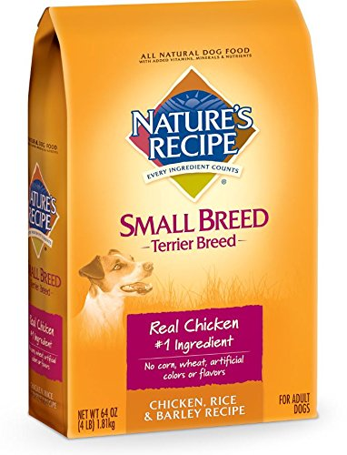 Nature's Recipe Terrier Breed Dry Dog Food, Chicken, Rice & Barley Recipe, 4-Pound