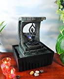 GiftsRDecor Tabletop Fountain Yoga Meditation In Temple Of Serenity