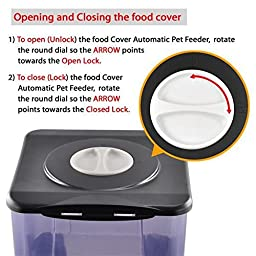 Gotobuy Automatic Timer Programmable Dog Feeder for Large to Small Dogs