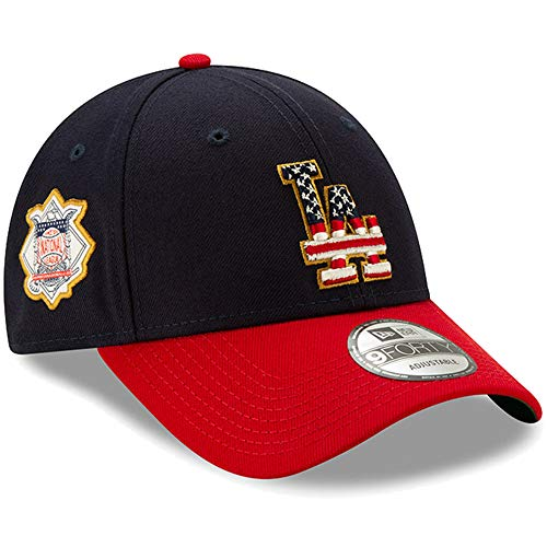 New Era Los Angeles Dodgers 2019 Stars & Stripes 4th of July 940 9FORTY Adjustable Cap Hat