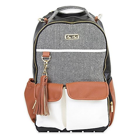 Itzy Ritzy Backpack Diaper Bag Backpack in Brown/Cream