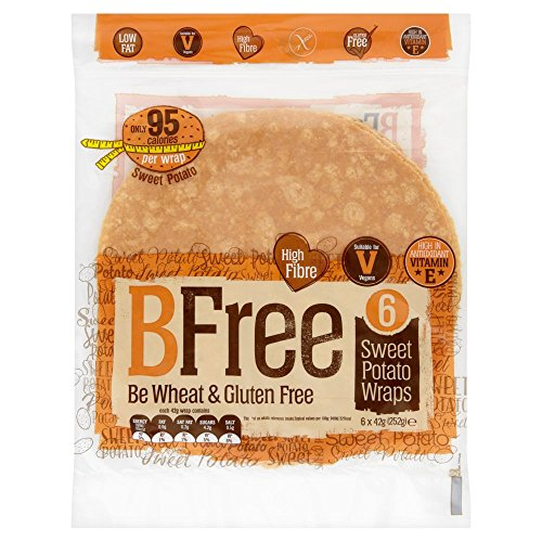 BFree Gluten Free Wrap Tortillas Sweet Potato 8 Inch Vegan Wheat Free Dairy Free (3 Pack)
