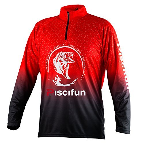 Piscifun Fishing T-Shirt Performance UPF 30+ Long Sleeve Fishing T-Shirt Sun Protection Fishing Clothing L