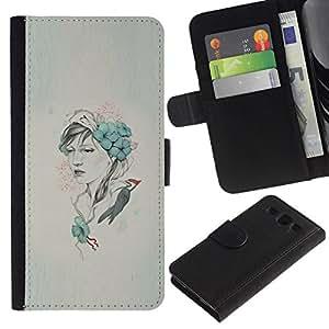 NEECELL GIFT forCITY // Billetera de cuero Caso Cubierta de protección Carcasa / Leather Wallet Case for Samsung Galaxy S3 III I9300 // Arte pop Carpintero