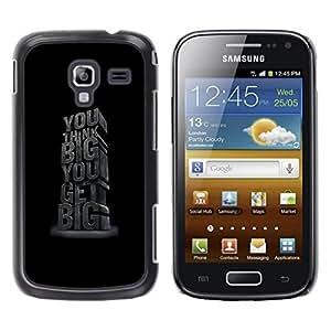 TaiTech / Hard Protective Case Cover - Big Bigger Black Inspiring 3D - Samsung Galaxy Ace 2 I8160 Ace II X S7560M