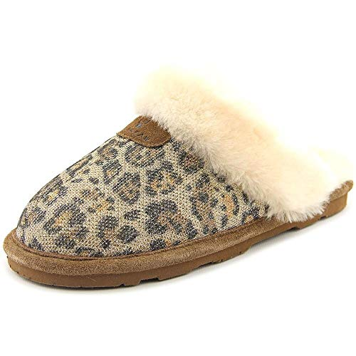 (BEARPAW Women's Lauren Snow Boot (7 B(M) US, Gold/Leopard))