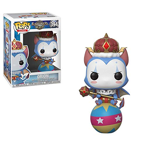 Funko Orion: Summoners War x POP! Games Figure & 1 PET Plastic Graphical Protector Bundle [#394 / 34879 - B]