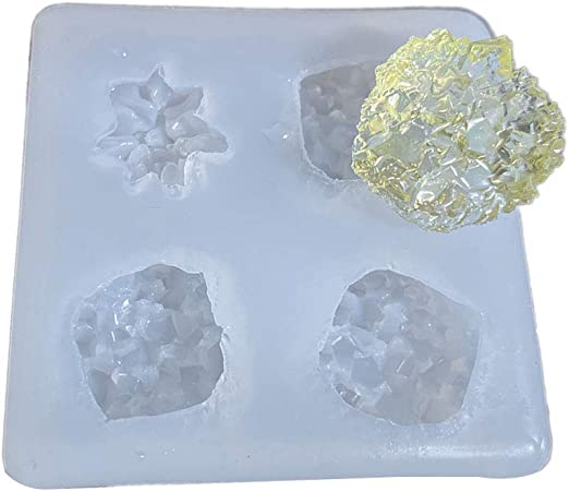 DIY Epoxy Crystal Cluster Mold-Simulated Ore Mold-Crystal Stone Column Shape Mold-Jewelry Making Mold-UV Resin Mold-Home Decoration Mold