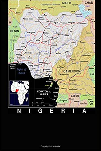 Modern Day Color Map Of Nigeria In Africa Journal Take Notes Write