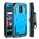 lg 3 bumper - LG Stylo 3 Case, LG Stylo 3 Plus Case, LG Stylus 3 Case w/[Screen Protector+Kickstand+Belt Clip] [Military Grade Drop Tested] Heavy Duty Rugged Shockproof Armor Case Cover for LG Stylo 3-Blue