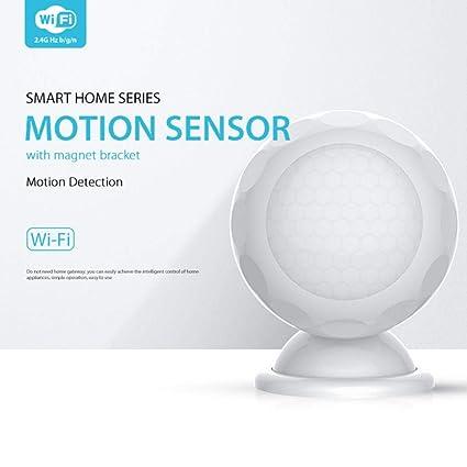 Detector de Movimiento Inteligente WiFi PIR Funciona con IFTTT, Sistema de Alarma Foreet Smart Home