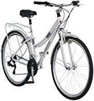 Schwinn Discover Hybrid Bikes for Men and Women, Featuring Aluminum City Frame, 21-Speed Drivetrain, Front and
