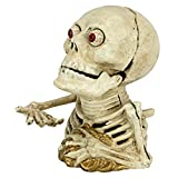 Design Toscano Bugged-Out Hungry Skeleton Cast Iron Mechanical Coin Bank