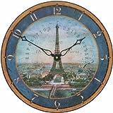 Roger Lascelles Tour Eifel Wall Clock,-14.2-Inch