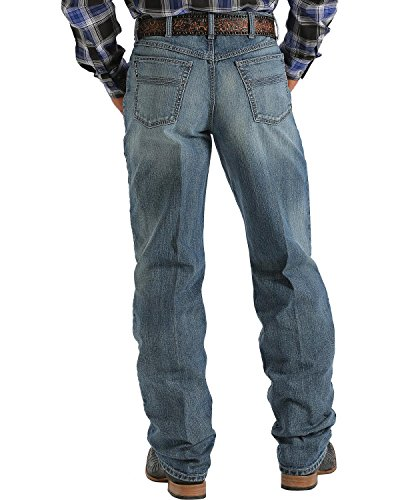 Cinch Men's Label 2.0 Medium Wash Jeans Med Stone 38W x (Black Label Men Jean)