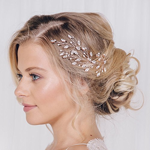 FXmimior Bridal Hair Accessories Pearl Crystal Hair Pins Hai