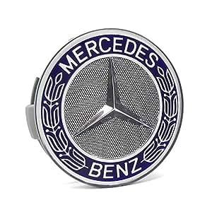 Mercedes benz blue classic logo wheel center cap center for Center caps for mercedes benz wheels