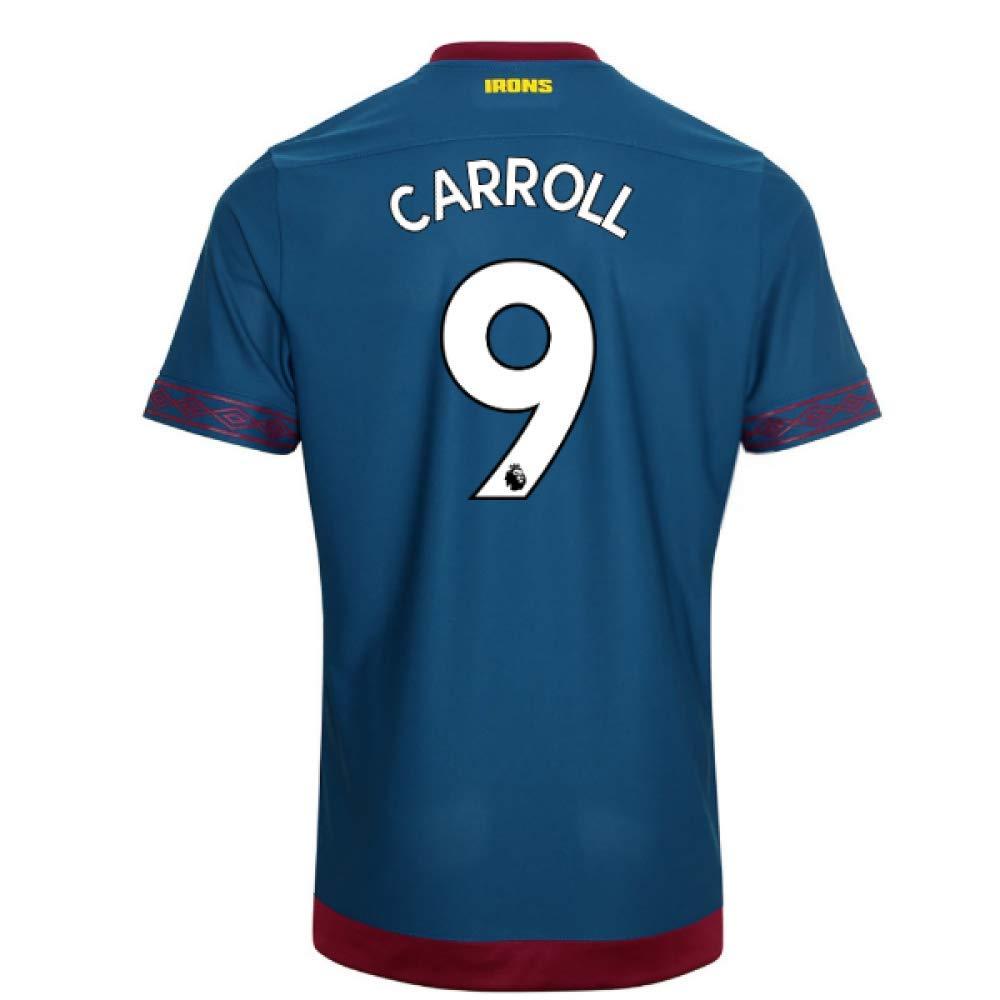 2018-2019 West Ham Away Football Soccer T-Shirt Trikot (Andy Carroll 9)