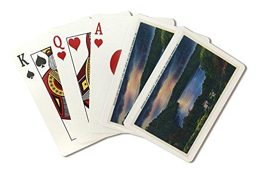 Virginia - Moonlit View of Mountain Lake near Pembroke (Playing Card Deck - 52 Card Poker Size with - Pembroke Lakes