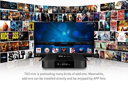 TX3 Mini Android 7.1 TV BOX 2GB/16GB 4K TV Amlogic S905W Quad core H.265 Decoding 2.4GHz WiFi TV BOX