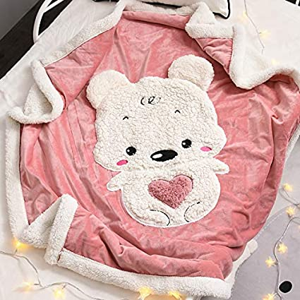 XYL HOME Blanket Women s Thick Blanket Winter Double Thicken Small Blanket  Single Sheep Cashmere Napping Blanket 831c3c3959