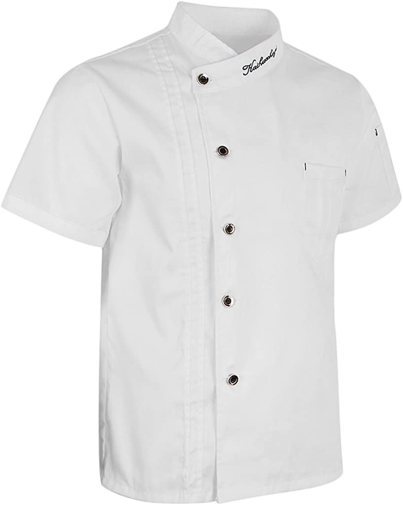 Baoblaze Chaqueta de Chef Unisex Capa Camisa Mangas Cortas Cocina Ejecutivo Camarero Mangas Corta Atavío Camiseta de Cocinero: Amazon.es: Ropa y accesorios