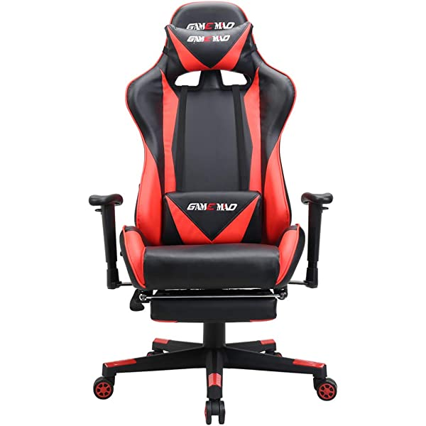 Amazon.com: High Back PU Leather Swivel Gaming Chair with ...