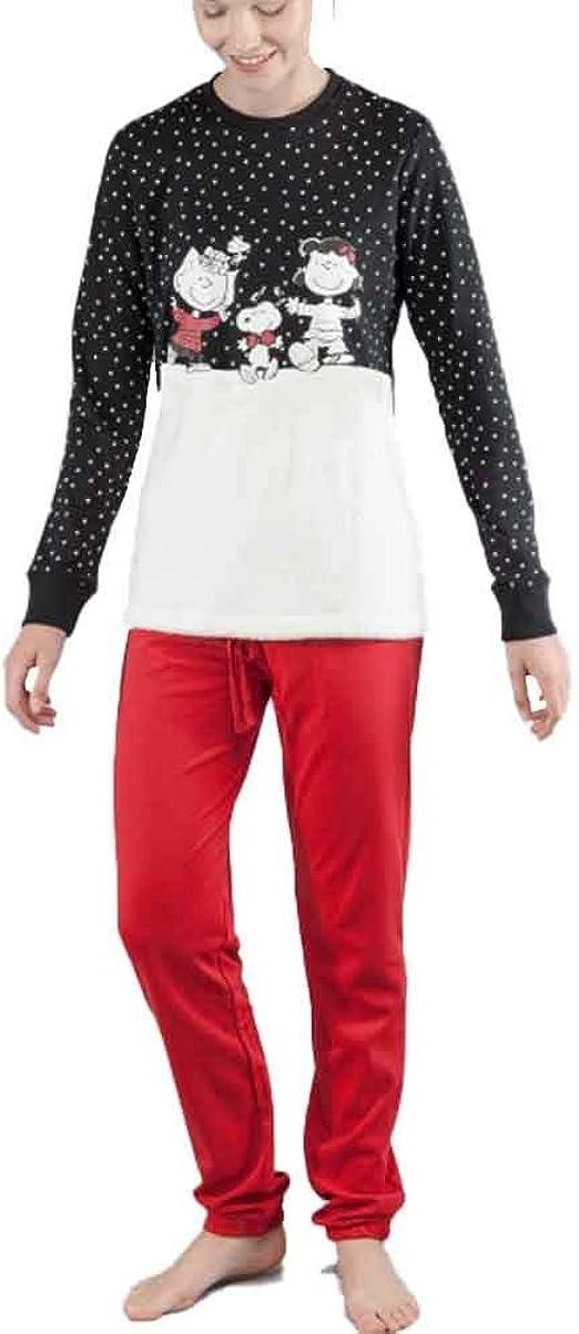 GISELA Pijama de Mujer Snoopy 2/1549 - Negro, L: Amazon ...
