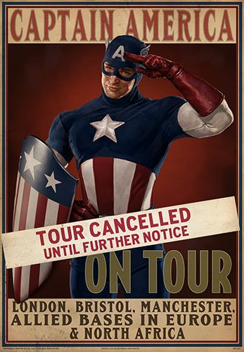 EFX Sports eFx Captain America Tour Cancelled Movie Prop Poster