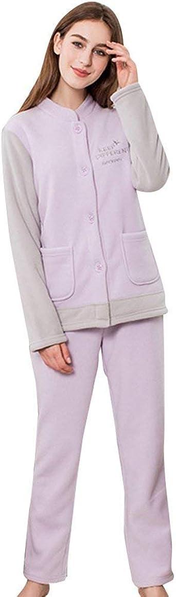 Conjunto De Pijama Mujer Fashion Informales Cómodo Invierno ...