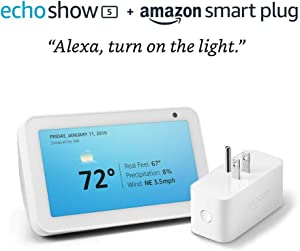 Echo Show 5 Sandstone with Amazon Smart Plug