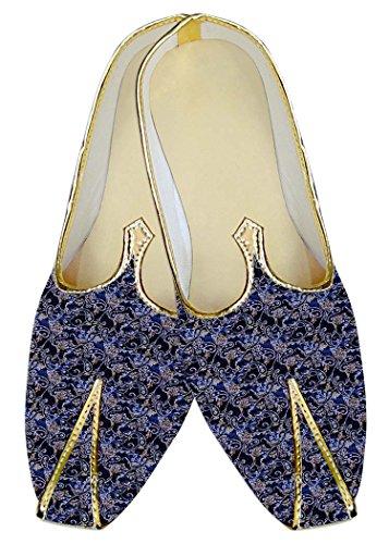 Marino Mj15199 Azul Zapatos Hombres Boda Inmonarch Patrón Paisley pcwaZqvvE